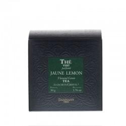 Boite de thé vert Jaune Lemon Dammann Frères