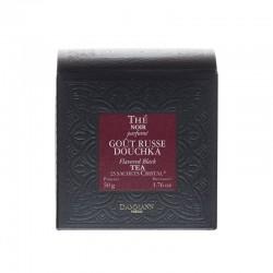 Boite de sachets de thé noir Gout Russe Douchka Dammann Frères