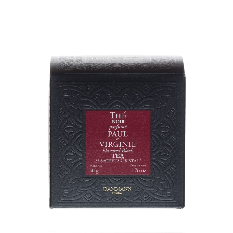 Boite de thé noir Paul et Virginie Dammann Frères